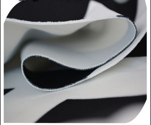 Polyester Spandex Black and White Printed Scuba Air Layer Knitting Fabric pictures & photos