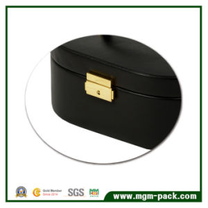 2017 Hot Sell Round Leather Two Layers Jewelry Box pictures & photos