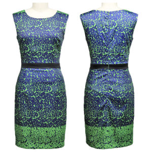 Latest Ladies Summer Green Printed Dress (1-3102-510)