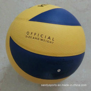 High Quality PU Leather Laminated Volleyball pictures & photos