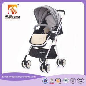 Folding Style Height Adjustable Seat Baby Pram with Big Basket pictures & photos