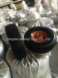 350-4 China Maxtop PU Foam Trolley Wheel pictures & photos