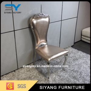 Hotel Furniture Leather Dining Chair Gold Wedding Chair pictures & photos