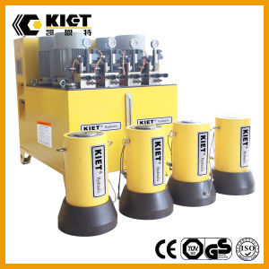 Kiet Touchable Screen PLC Synchronous Hydraulic Lifting System pictures & photos