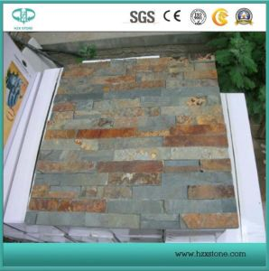 Natural Grey/Yellow/Beige/Black/Rusty Slate for Wall Cladding/Flooring/Mosaic/Flagstone/Swimming Pool Coping/Pool Paving pictures & photos
