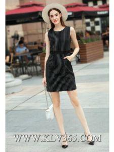 New Fashion Spring Dress Women Striped Sleeveless Slim Dress pictures & photos