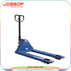Hydraulic Hand Pallet Truck with AC Pump pictures & photos