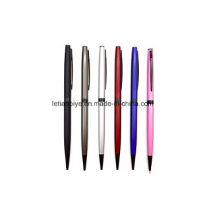 Slim Twist Metal Ball Pen with Custom Logo (LT-Y057) pictures & photos