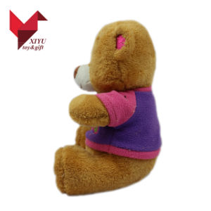 ICTI Approved Toy Factory Wholesale Cute Yellow Stuffed Teddy Bear with T Shirts pictures & photos