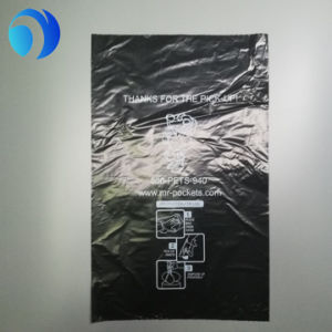 HDPE Plastic Black Dog Poop Bags on Roll pictures & photos