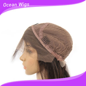 """Hot Selling 100% Human Hair Natural Color 10"""" Straight Lace Front Wig pictures & photos"""
