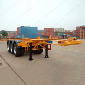 30 Tons Steel Material 2 Axle 20FT Skeleton Container Trailer pictures & photos