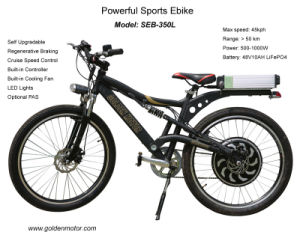 Power Bike --Fastest Electric Bike with 250W-1000W Programmable Brushelss Motor pictures & photos