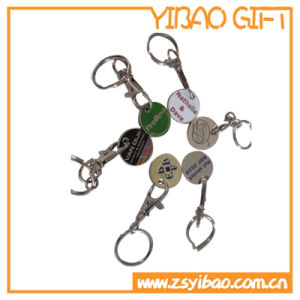 Csutom Logo Trolley Coin Keychain for Promotional Gift (YB-K-034) pictures & photos