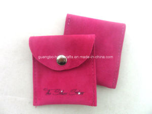 Custom Hot Pink Top Sale Velvet Printed Jewelry Pouch pictures & photos