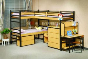 High Quality Modern Triple Bunk Bed. Dormitory Bunk Bed for Three Person Sf-20r pictures & photos