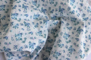 100% Cotton Muslin with Flower Print pictures & photos