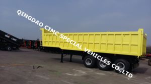 Cimc 40cbm 3 Axle Dump Tipping Semi Truck Trailer Chassis pictures & photos