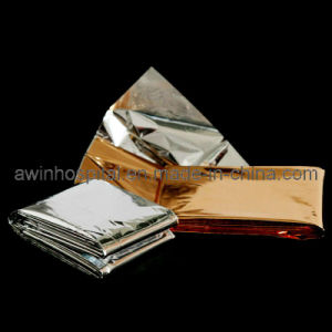 Emergency Blanket Golden Color Silver Color pictures & photos