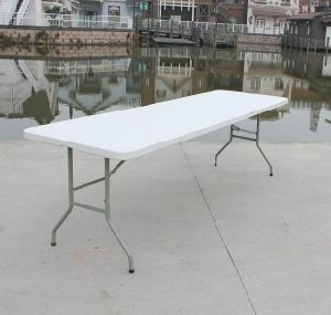 8 Foot Rectangle Banquet Fold-in-Half Table (SY-240Z) pictures & photos