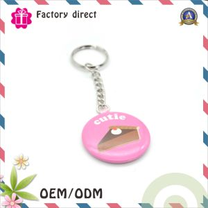 Sublimation Round Shape Tin Badge Keychain pictures & photos