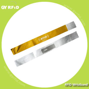 13.56MHz ISO14443A Disposable Nfc Wristband Bracelet Ticket for Music Festival Concert pictures & photos