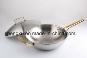 18/10 Stainless Steel Cookware Chinese Wok Cooking Frying Pan (SX-WO32-23) pictures & photos