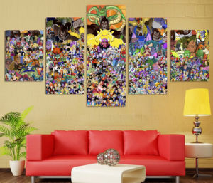HD Printed Cartoon Dragon Ball Painting Canvas Print Room Decor Print Poster Picture Canvas Mc-143 pictures & photos
