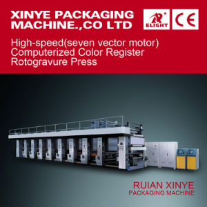 High Speed (seven vector motor) Computerized Color Register Rotogravure Press pictures & photos