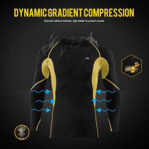 Men′s Long Sleeved Shirt Compression Training T-Shirt for Sport pictures & photos