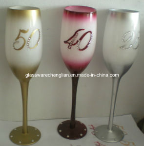 Hand Painted Gift Champagne Glass (B-GG04) pictures & photos