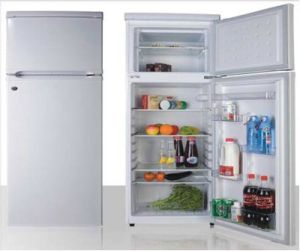 Double Door-up Freezer Fridge 230L pictures & photos