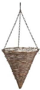 Black Rattan Cone Hanging Basket 12-Inch pictures & photos