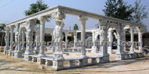 Stone Marble Garden Gazebo Tent for Outdoor Garden Sculpture (GR038) pictures & photos