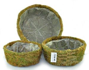 Decorative Moss Round Planter (set of 3) pictures & photos