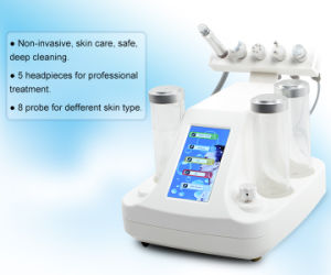 Skin Managment Machine 5 in 1 Newest Oxygen Jet Blackhead Removal RF Face Lifting Ultrasound Lymphatic Drainage Cold Hammer Face Deep Cleaning Beauty Equipment pictures & photos