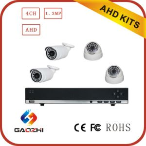 720p CCTV 4CH DVR Set Ahd System with HDD HDMI Cat5 Cable pictures & photos