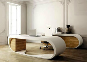 Oval Stylish Acrylic Solid Surface Modern Design Office Furniture (TW-OFTB-0041) pictures & photos
