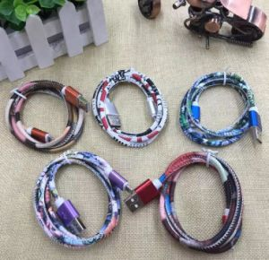 Hot Selling TPE Leather USB Charging Data Cable for Android/ Ios pictures & photos