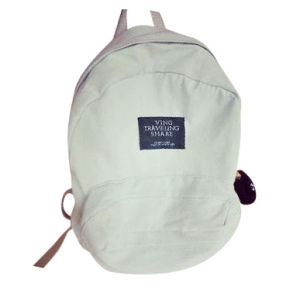 Water-Washed Denim Backpack Retro School Bag
