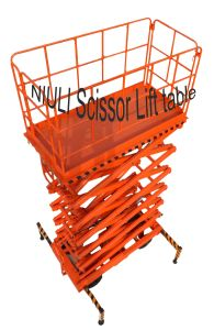 1 Ton Lift 9 Meter Scissor Movable Lift Table Truck pictures & photos