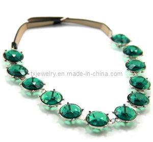 Green Imitation Stone Jewelry Fashion Necklace (Txn-10455)