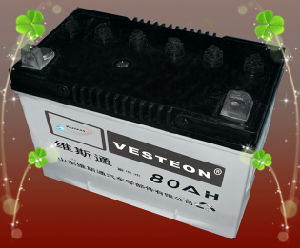 OEM Dry Charged and Mf Car Battery with CE, ISO DIN80 pictures & photos