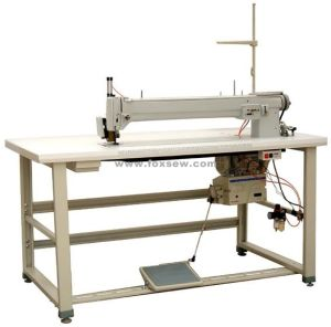 Long Arm Label Zigzag Sewing Machine pictures & photos
