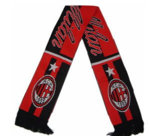 Football Scarf Fan Scarf Jacquard Knitted