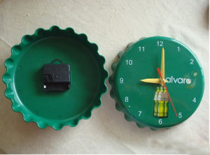 Bottle Cap Shaped Decor Plastic Wall Clock