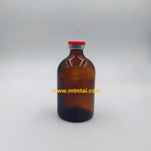 100ml Amber Color Moulded Glass Bottles pictures & photos