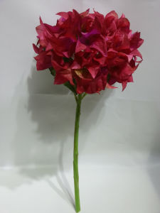 Artificial Silk Little Stem Triangle Hydrangea Wedding Flowers for Decoration
