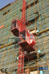Popular Electric Powered Single Cage Construction Hoist / Elevator with Fast Speed pictures & photos