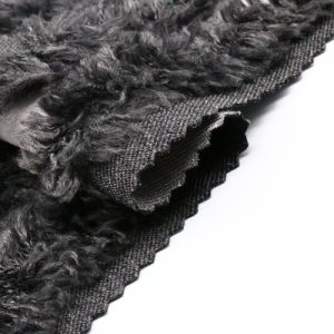 Processed Nylon Wool Fabric with Fur for Women′s Coat pictures & photos